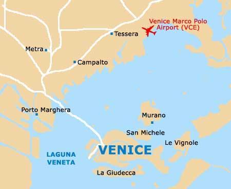 Gammal Karta Italien.Flygplatsen I Venedig Italien Karta Flygplatsen I Venedig Italien