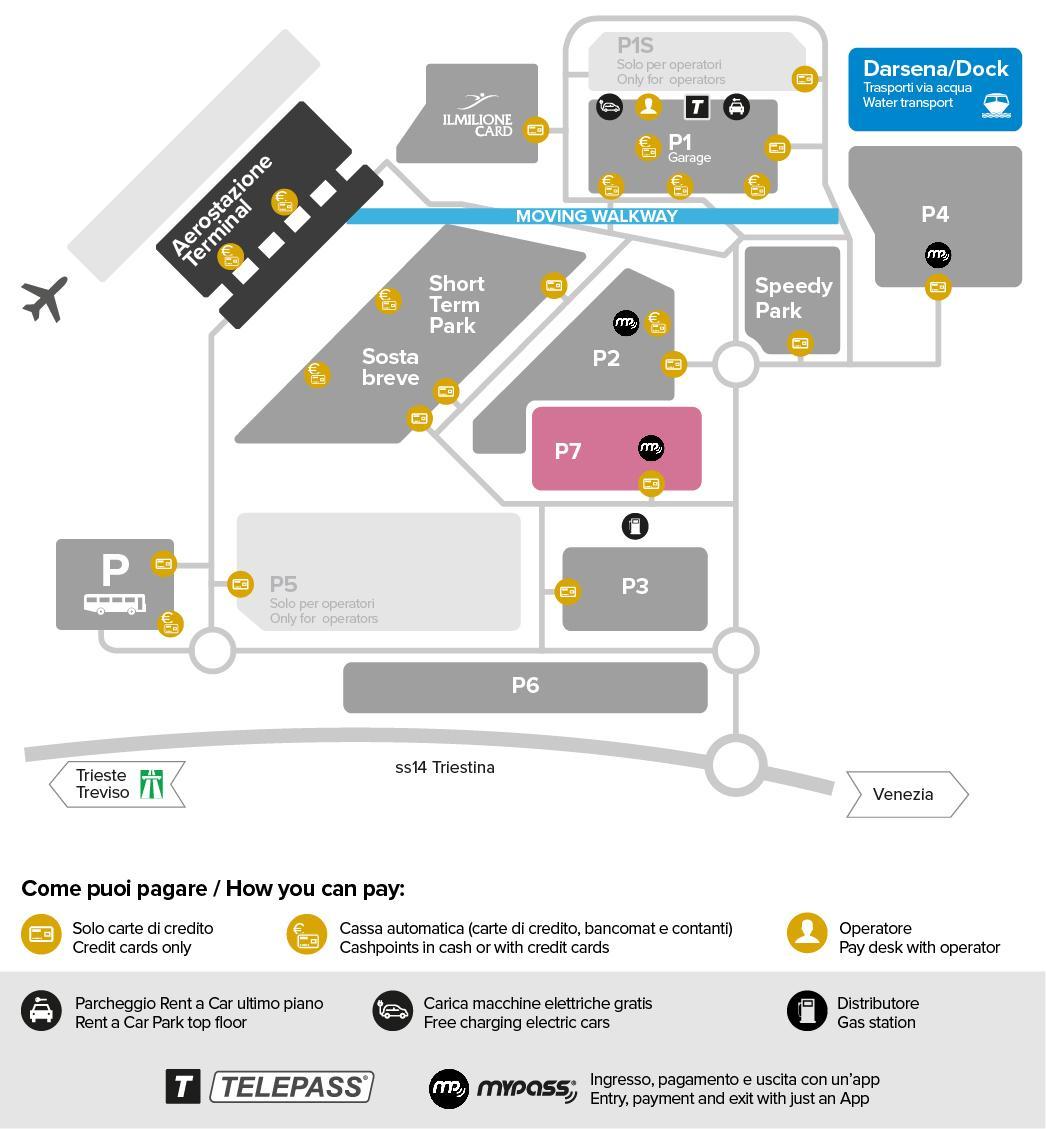 Marco Polo Flygplats Karta Karta Over Flygplatsen Marco Polo I