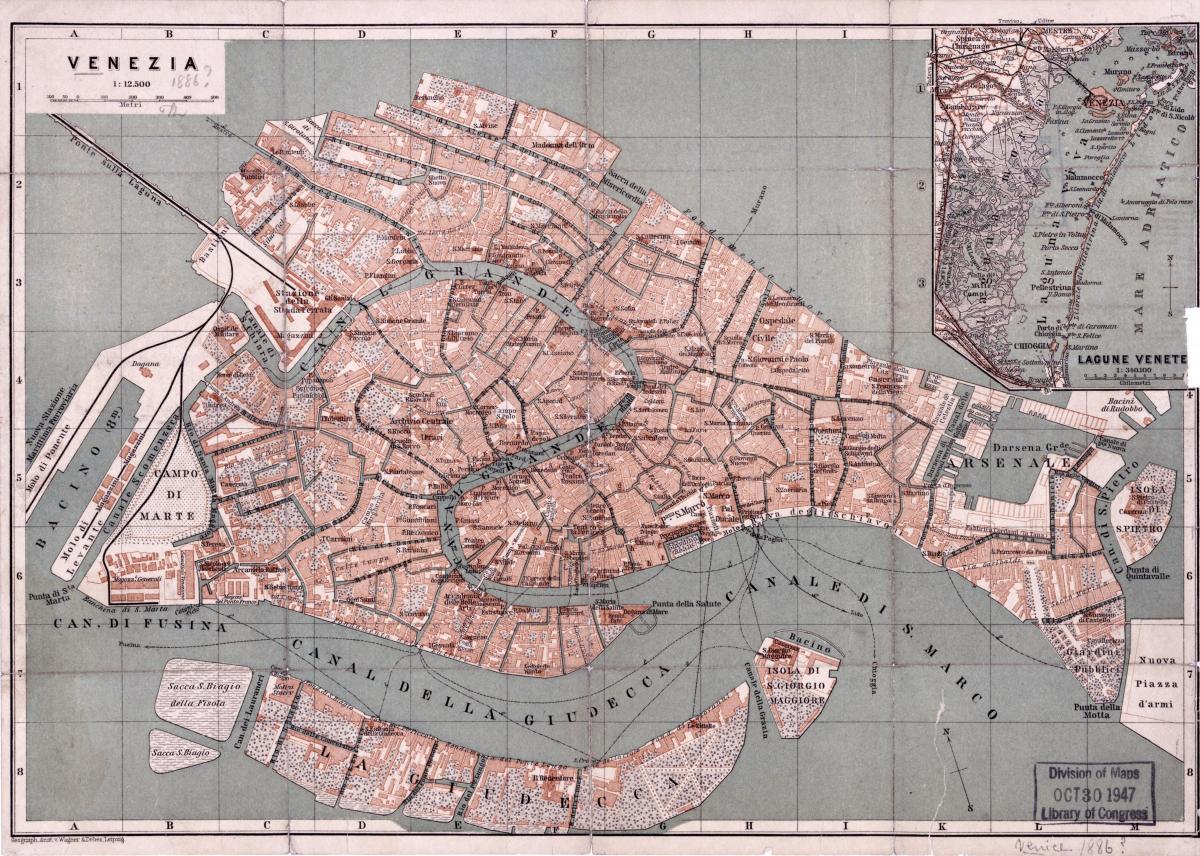 Gammal Karta Italien.Gammal Karta Over Venedig Karta Over Gamla Karta Over Venedig
